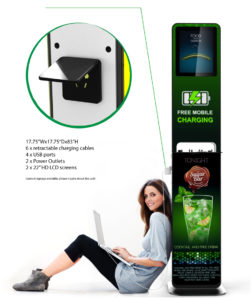 Advertising Charging Station