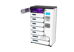 UV sterilzer charging locker